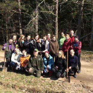 Ekologai sodino mišką